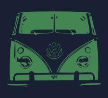VW Kombi Green Design Kids Tee