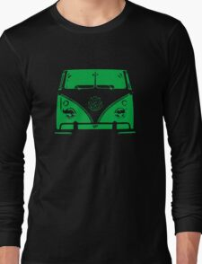 VW Kombi Green Design Long Sleeve T-Shirt