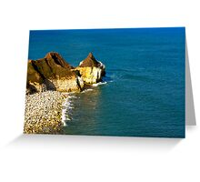 Yorkshire Coast at Thornwick Bay Greeting Card