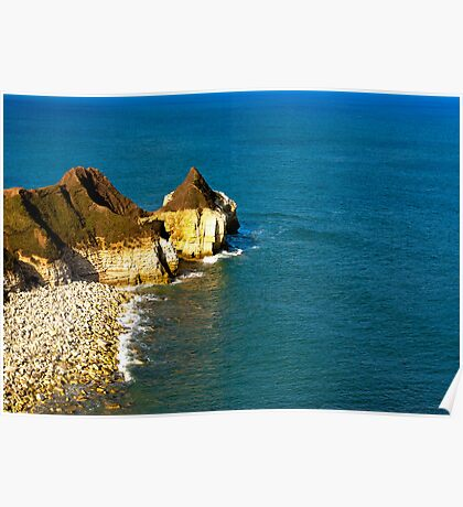 Yorkshire Coast at Thornwick Bay Poster