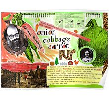 Onion, cabbage, carrot  Poster