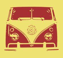 VW Kombi Red Design Baby Tee