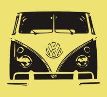 VW Kombi Black design Kids Tee