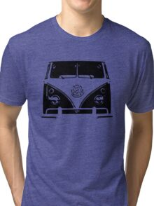 VW Kombi Black design Tri-blend T-Shirt