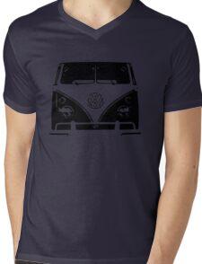VW Kombi Black design Mens V-Neck T-Shirt