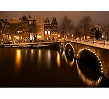 Amsterdam in Snow Photographic Print