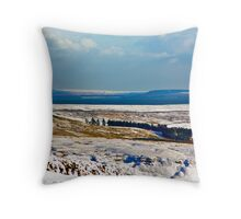 Winter on the North Yorks Moors Throw Pillow