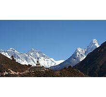 Everest and Ama Dablam Photographic Print