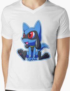 Sit, Riolu Mens V-Neck T-Shirt