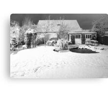 Garden Snow in England Canvas Print
