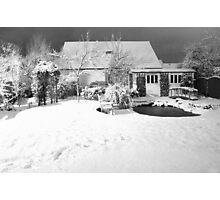 Garden Snow in England Photographic Print