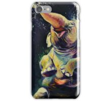 Joy - Happy Baby Elephant Playing in Water - Fine Art Painting iPhone Case/Skin