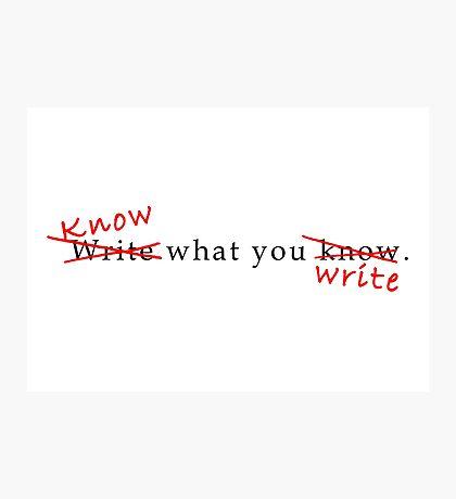 Writing Advice Photographic Print