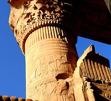 Column & Capital at Kom Ombo by Laurel Talabere