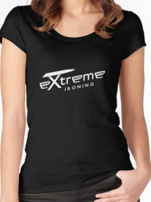 Extreme ironing (white) Women's Fitted Scoop T-Shirt