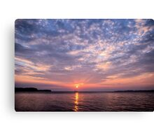 Classic Sailboat and Sunset Canvas Print