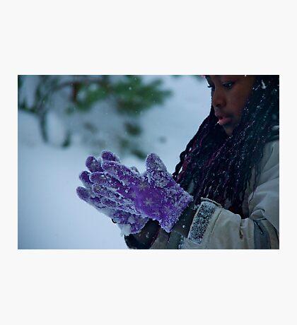 The purple gloves Photographic Print