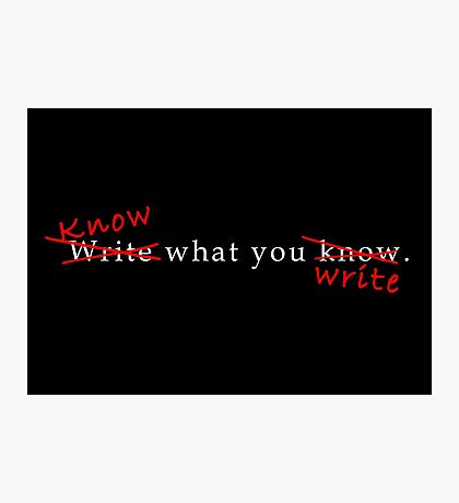 Writing Advice in White Photographic Print