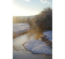 The Misty River Photographic Print