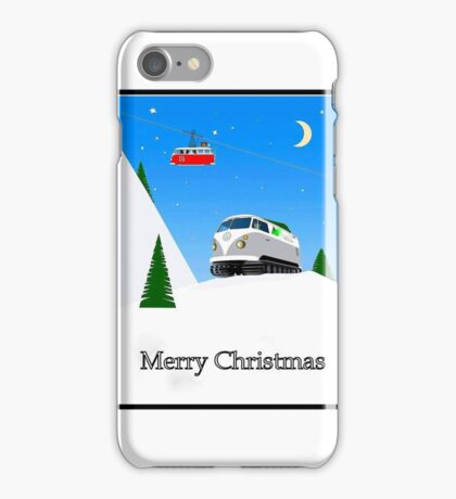 Split Screen Snow plough iPhone Case/Skin