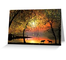 At The Sunset Greeting Card