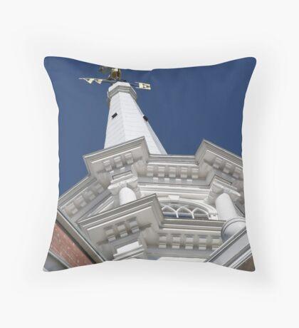 Church Steeple - First Parish Church, Dover, NH Throw Pillow
