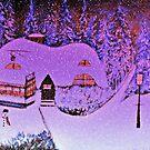 Snowy Snowy Night  by Rick  Todaro