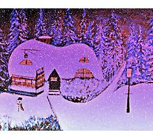 Snowy Snowy Night  Photographic Print