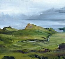 The Quiraing - Isle of Skye, Scottish Landscape Painting by Genevieve  Cseh