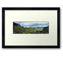 The Quiraing - Isle of Skye, Scottish Landscape Painting Framed Print