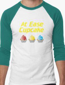 At Ease Cupcake Men's Baseball ¾ T-Shirt
