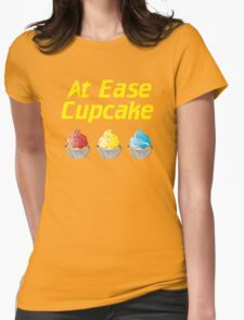 At Ease Cupcake Womens Fitted T-Shirt