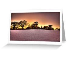 Snowy Sun Set Greeting Card