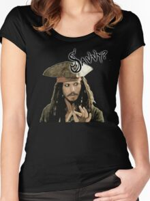 """Jack Sparrow say """"Savvy?"""" Women's Fitted Scoop T-Shirt"""