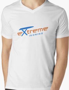 Extreme ironing (color) Mens V-Neck T-Shirt