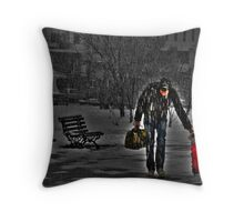 Winter vacations.... Throw Pillow