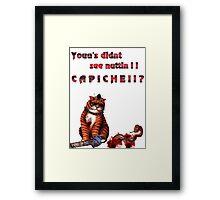 cat mobster 3 Framed Print
