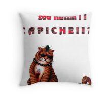 cat mobster 3 Throw Pillow