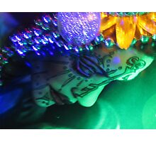 Goddess Of Light and Bling Photographic Print