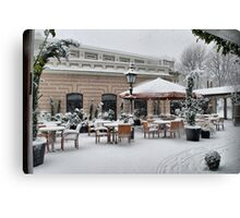 Greenwich Cafe Canvas Print