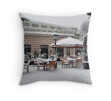 Greenwich Cafe Throw Pillow