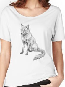 Sitting fox illustration Women's Relaxed Fit T-Shirt