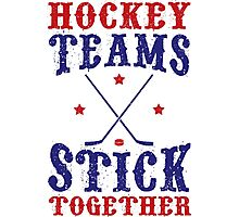 Hockey Teams Stick Together Photographic Print