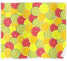 Summer fruits Poster