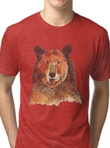 Brown Bear Tri-blend T-Shirt