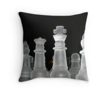 Glass Chess Set Throw Pillow