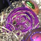 Study on purple Christmas baubles 2 by Kiriel