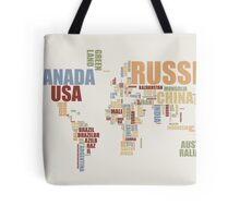 World Map in Words 2 Tote Bag