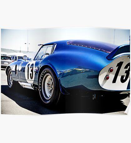 Shelby Cobra Racing Car Poster