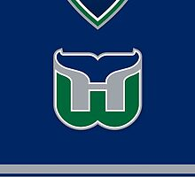 Hartford Whalers 1992-97 Away Jersey by Russ Jericho